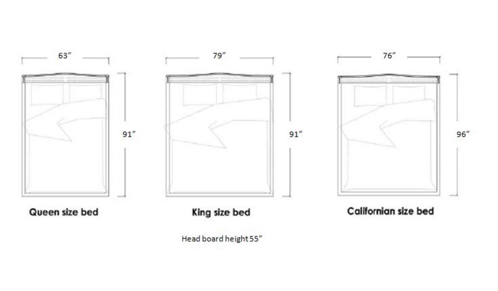 Acerno Zoli Contemporary Living Bed Sizes Diagram Dimensions
